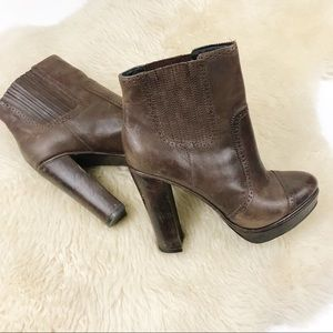 Nordstrom Trouve | Brown Leather Ankle Boots